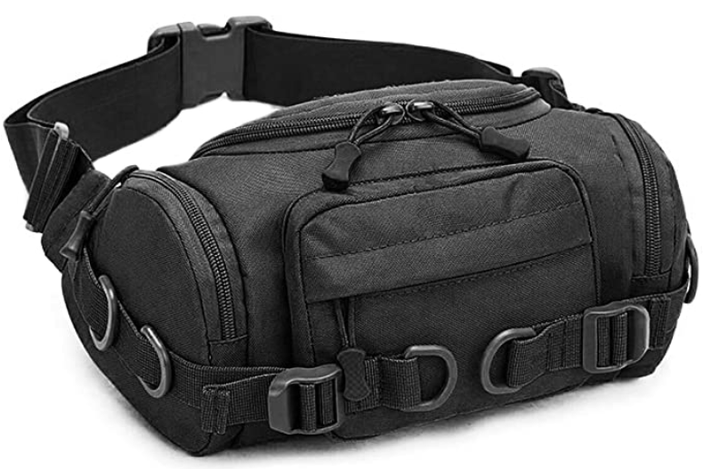 The CamGo tactical fanny pack is a decent sized EDC waist bag with a large carrying capacity