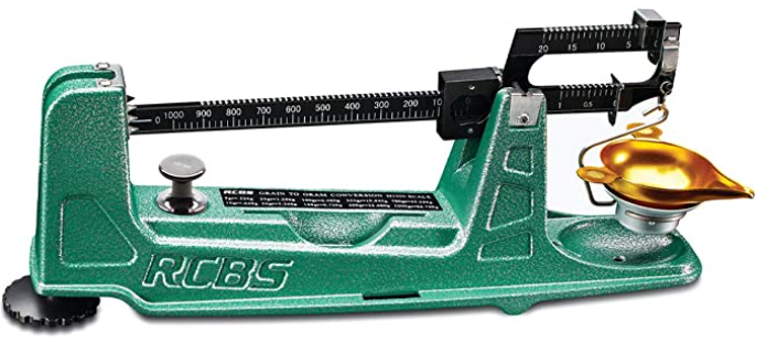 The RCBS M1000 mechanical scale is a great balance beam scale for reloading