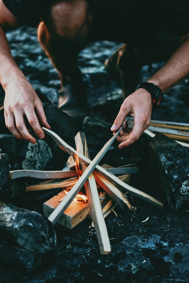 how to make a fire with two sticks